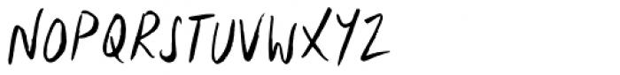 Lid Brush Font UPPERCASE
