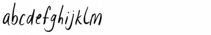 Lid Brush Font LOWERCASE