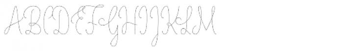 LiebeLotte Thin Font UPPERCASE