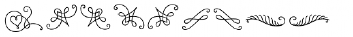 LiebeOrnaments Font LOWERCASE