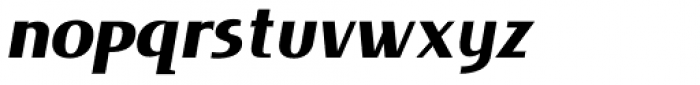 Lieur Black Italic Font LOWERCASE
