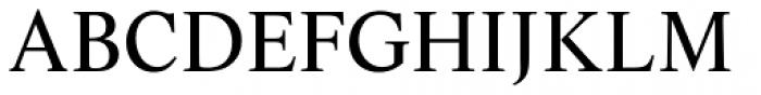 Life Regular Font UPPERCASE