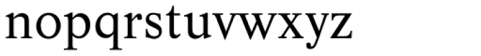 Life Regular Font LOWERCASE