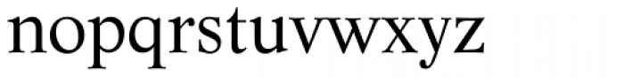 Life Roman Font LOWERCASE