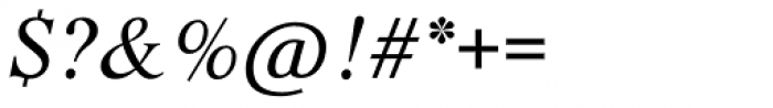 Life SB Italic Font OTHER CHARS