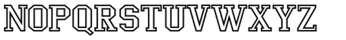 LifeAfterCollege Wide Outline Font UPPERCASE