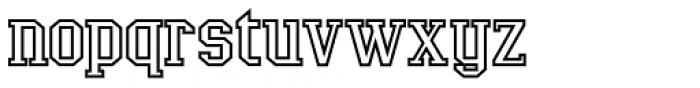 LifeAfterCollege Wide Outline Font LOWERCASE