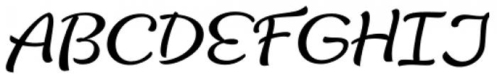 Lifehack Italic Font UPPERCASE