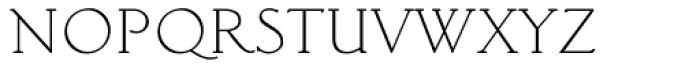Light Classic Roman Font LOWERCASE