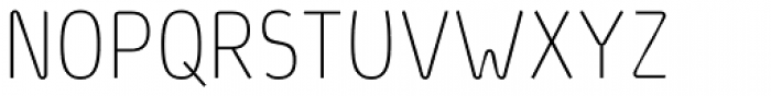 Light Fit D Font UPPERCASE