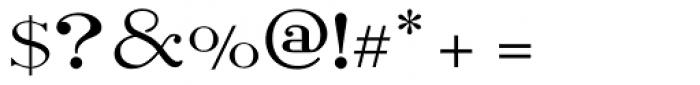 Light Roman Font OTHER CHARS