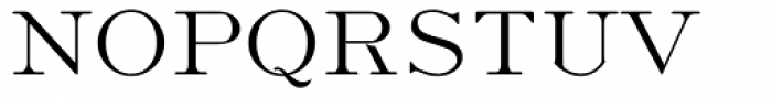 Light Roman Font UPPERCASE