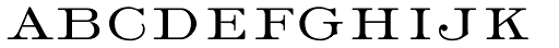 Light Roman Font LOWERCASE