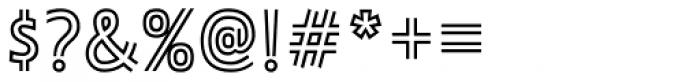 Ligurino Outline Font OTHER CHARS