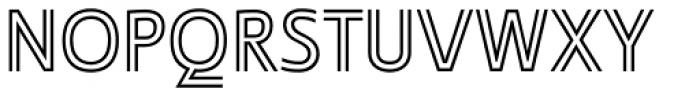 Ligurino Outline Font LOWERCASE