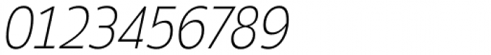 Ligurino SemiCond ExtraLight Italic Font OTHER CHARS