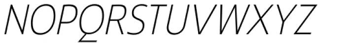 Ligurino SemiCond ExtraLight Italic Font UPPERCASE