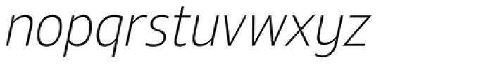 Ligurino SemiCond ExtraLight Italic Font LOWERCASE