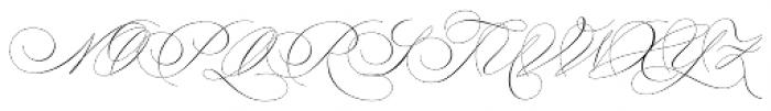 Lile Dahliya Script Font UPPERCASE