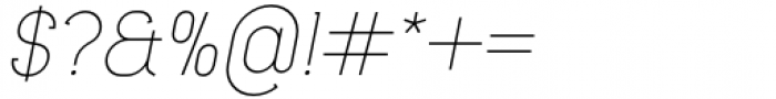 Lilette Light Italic Font OTHER CHARS