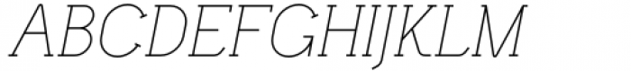Lilette Light Italic Font UPPERCASE