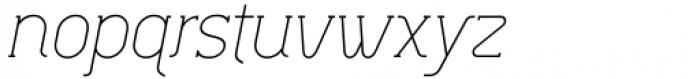 Lilette Light Italic Font LOWERCASE