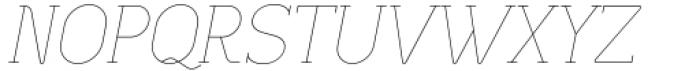 Lilette Ultra Light Italic Font UPPERCASE