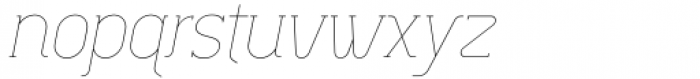 Lilette Ultra Light Italic Font LOWERCASE