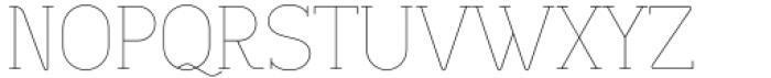 Lilette Ultra Light Font UPPERCASE