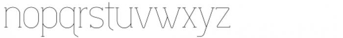 Lilette Ultra Light Font LOWERCASE