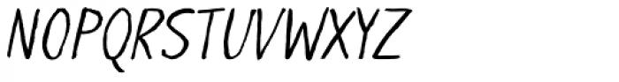 LiliRun Italic Font UPPERCASE