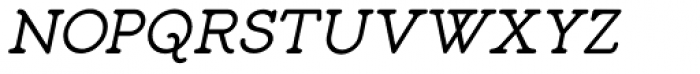 Liliming Italic Font UPPERCASE