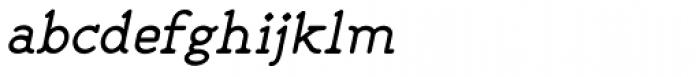 Liliming Italic Font LOWERCASE