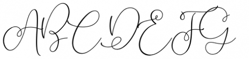 Lilypaly Regular Font UPPERCASE