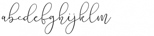 Lilypaly Regular Font LOWERCASE