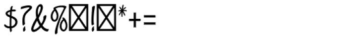 Limehouse Script Std Font OTHER CHARS