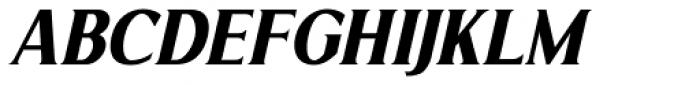 Limonata Condensed Bold Italic Font UPPERCASE