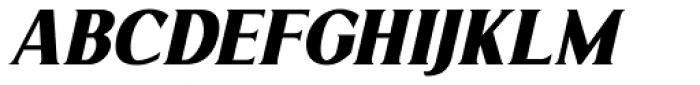 Limonata Condensed ExtraBold Italic Font UPPERCASE