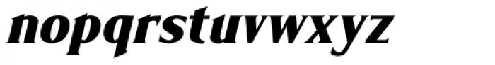 Limonata Condensed ExtraBold Italic Font LOWERCASE