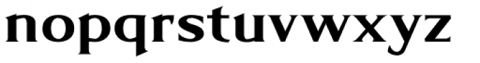 Limonata Extended Bold Font LOWERCASE