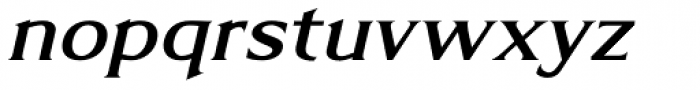 Limonata Extended Medium Italic Font LOWERCASE