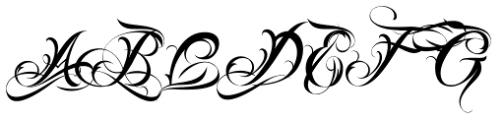 Lina Script Alt Pro Font UPPERCASE
