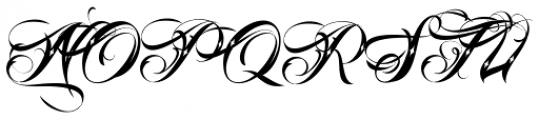 Lina Script Dot Alt Pro Font UPPERCASE