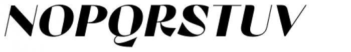 Lince Sans Black Oblique Font UPPERCASE