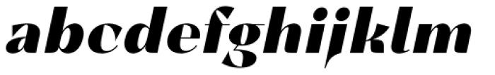 Lince Sans Black Oblique Font LOWERCASE