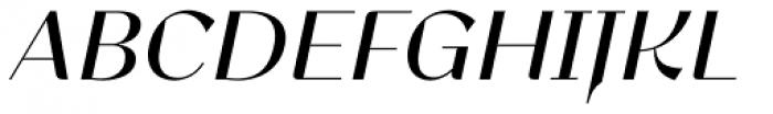 Lince Sans Oblique Font UPPERCASE