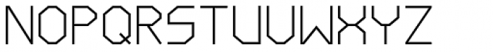 LineWire Light Font UPPERCASE