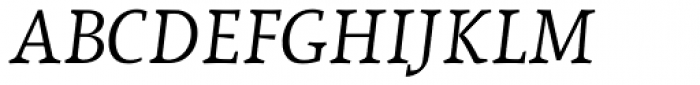 Lineare Serif Italic Font UPPERCASE