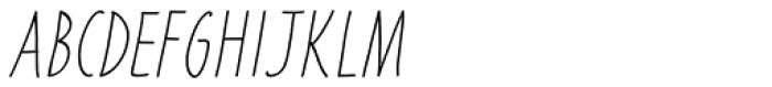 Liniga Thin Italic Font UPPERCASE