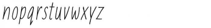 Liniga Thin Italic Font LOWERCASE
